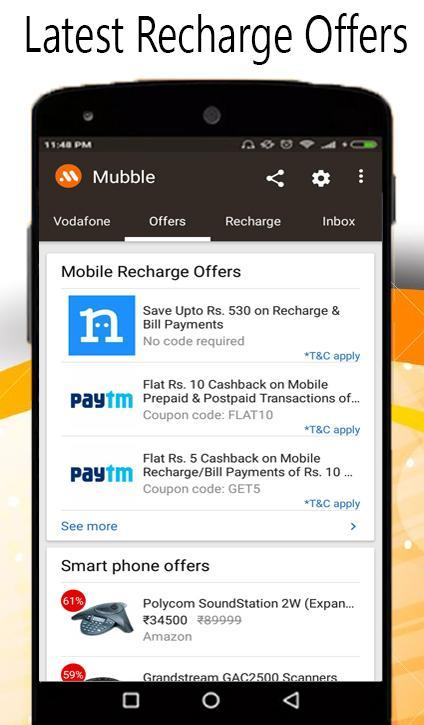 Mobile recharge info apps