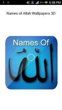 Names of Allah-Wallpaper 3D HD poster ...