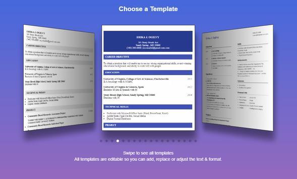resume builder pro 3 min free cv maker templates apk download