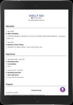 Resume builder pro 3 min free cv maker templates apk download resume builder pro 3 min free cv maker templates apk screenshot yelopaper Choice Image
