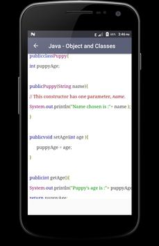 Java apk screenshot