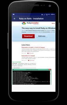 Learn - Ruby on Rails apk screenshot