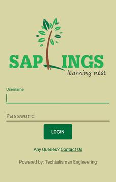 Saplings Teacher poster