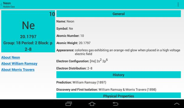 pocket periodic table apk screenshot - Periodic Table Apk Free Download