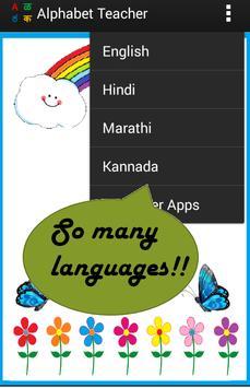 Alphabets Teacher for Kids - Multiple languages screenshot 3