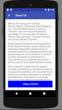 Prime Charity screenshot 1