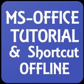 MS OFFICE TUTORIAL & SHORTCUT OFFLINE APP icon
