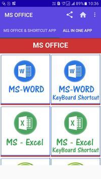 MS OFFICE TUTORIAL & SHORTCUT OFFLINE APP poster