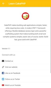Learn CakePHP (Tutorial) apk screenshot