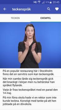 Teckenspråkslexikon screenshot 1