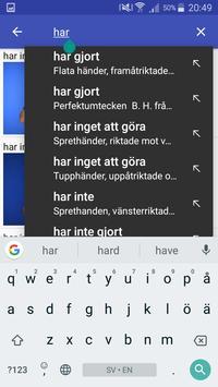 Teckenspråkslexikon screenshot 2