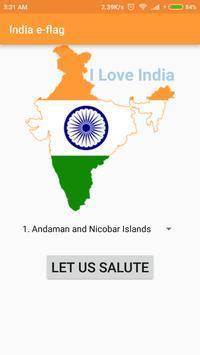 India E-flag poster