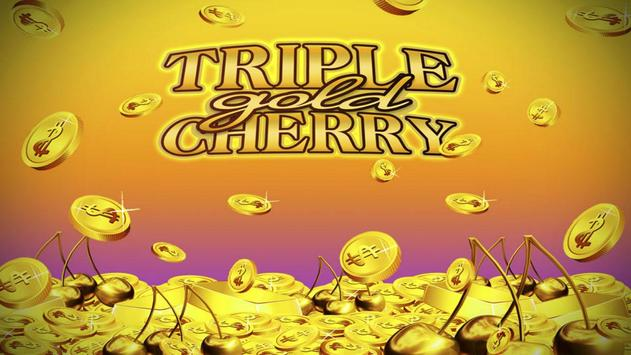 Triple Gold Cherry Slots poster