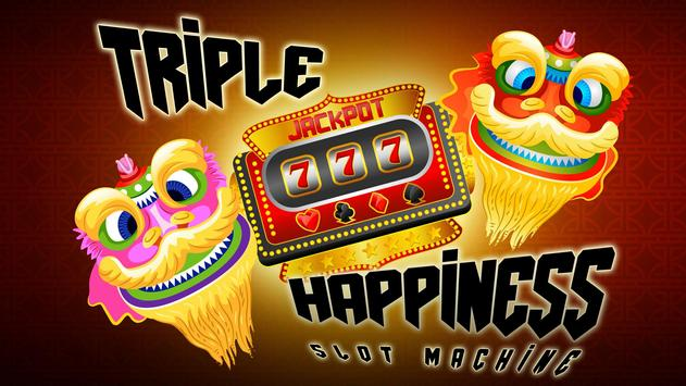 Triple Happiness Slot Machines poster
