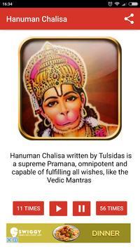 Hanuman Chalisa Audio App 108 times | Hindu Mantra apk screenshot
