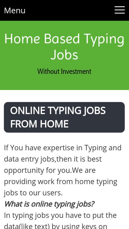 Summary -> Ms Word Typing Jobs Without Investment Rs1650 Daily