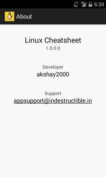 Linux Cheatsheet apk screenshot