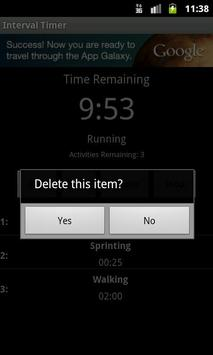 Interval Timer apk screenshot