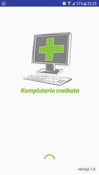 Kompiuterio sveikata poster