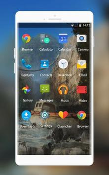 Theme for Intex Aqua T5 Cliff Waterfall Wallpaper screenshot 1