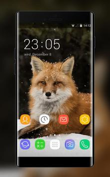 Theme for Intex Aura Plus Fox Wallpaper poster