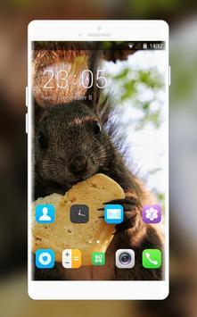 Theme for Intex Yuvi Plus Squirrel Wallpaper poster