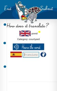 Learn SPANISH with Words FREE apk screenshot