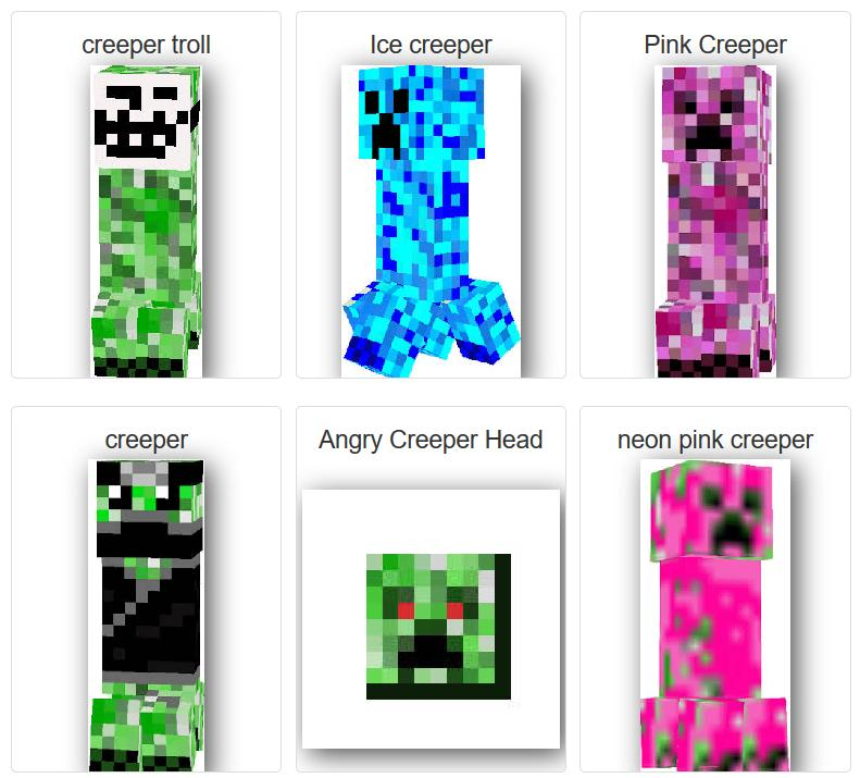 Skin Mobeditor Creeper For Minecraft For Android Apk Download
