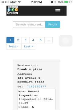 NYC Restaurant Inspections apk screenshot