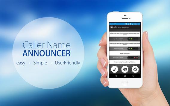 💯 Caller Name Announcer & Flash Alerts Call SMS poster