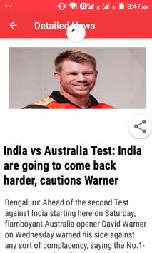 Indian Sports News apk screenshot