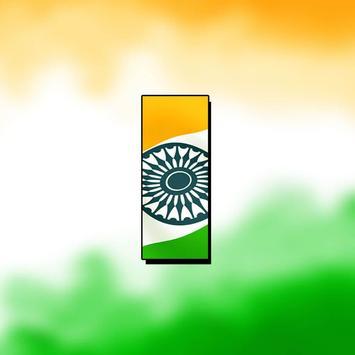 Indian Flag Letter poster