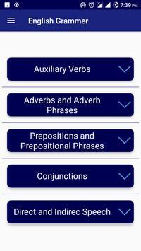 English Grammar Book learning app test offline apk screenshot