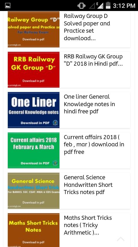 GK in Hindi - Daily PDF Download Books for Android - APK