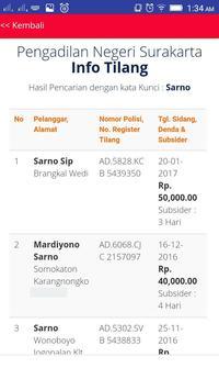 Info Tilang PN Surakarta screenshot 2