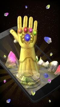 3D Golden Gauntlet Theme apk screenshot