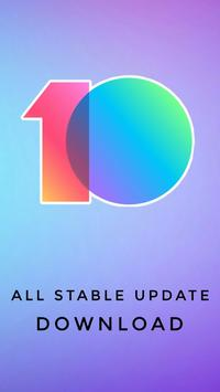 MIUI 10 Stable Updates Download poster