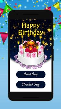 Birthday song with name<creater> poster
