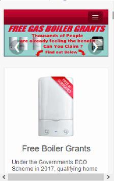 Free Boiler Grants UK poster