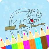 Coloring Book : Chameleon Pages icon