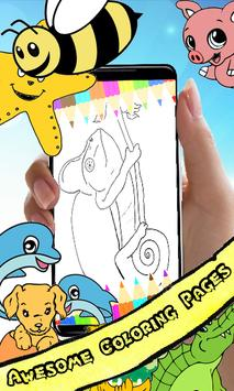 Coloring Book : Chameleon Pages poster