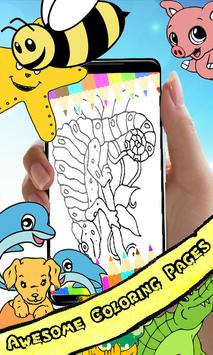 Coloring Book : Chameleon Pages screenshot 1