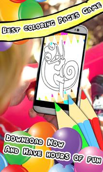 Coloring Book : Chameleon Pages screenshot 2