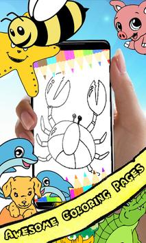 Coloring Book : Crab Pages poster