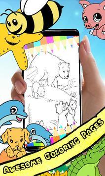 Coloring Book Bear Pages screenshot 1