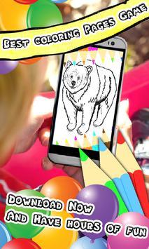 Coloring Book Bear Pages screenshot 3