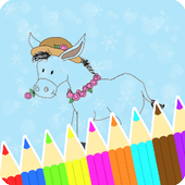 Coloring Book : Donkey Pages icon