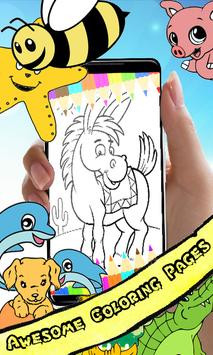 Coloring Book : Donkey Pages poster