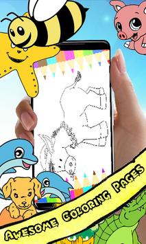 Coloring Book : Donkey Pages screenshot 1