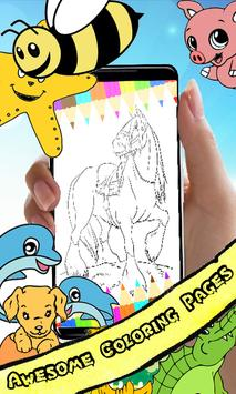 Coloring Book : Horse Pages screenshot 2